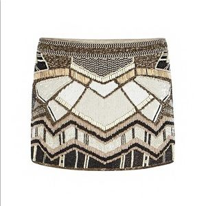 All Saint Hand Embellished Beaded  Newaz Skirt